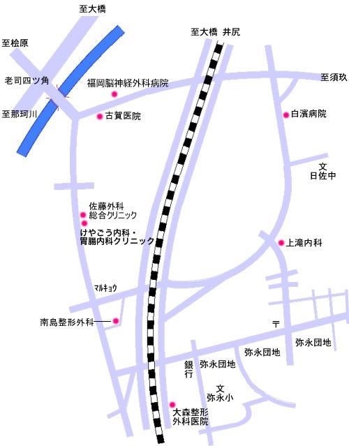 日佐3〜4丁目 ・ 柳瀬1~2丁目 ・ 警弥郷1~3丁目 ・ 弥永1~5丁目