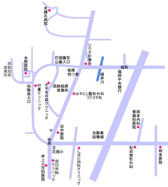 皿山1~4丁目 ・ 花畑1~3丁目 ・ 桧原 ・ 柏原 ・ 赤牟田 ・ 大平寺